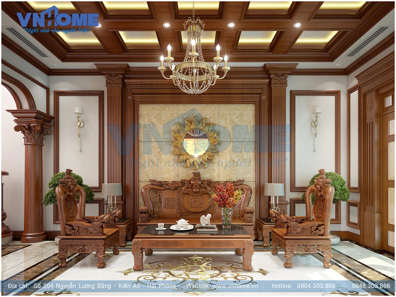 Thiết kế nội thất nhà biệt thự hiện đại đẹp tại Hải Phòng
